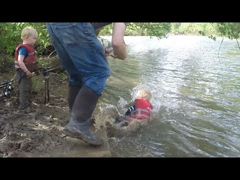 Thumbnail: Tommy falls into river!!!!!!! Carp fishing in mud hole. Catch tons of fallfish