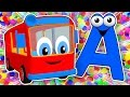 SUPER CIRCUS 3D Alphabet Buses | Learn ABCs for Kids, Teach Colors, 3D Baby Rhymes by Busy Beavers