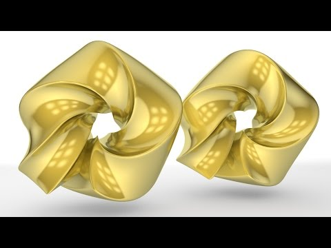 Cinema 4D Tutorial - How to make a gold material in Cinema 4d
