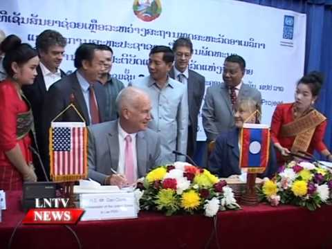 Lao NEWS on LNTV: US,UNDP support ongoing implementation of the legal sector.8/12/2014