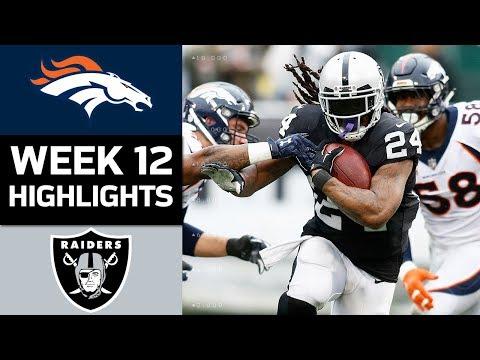 Broncos Vs. Raiders   NFL Week 12 Game Highlights
