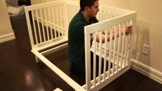 Babyletto Hudson Crib Build (timelapse)