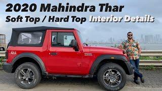 2020 Mahindra Thar Interior - Soft Top Convertible & Hard Top (Hindi + English)