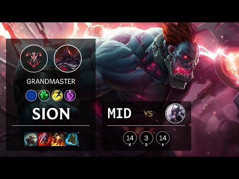 Sion Mid vs Syndra - EUW Grandmaster Patch 10.7