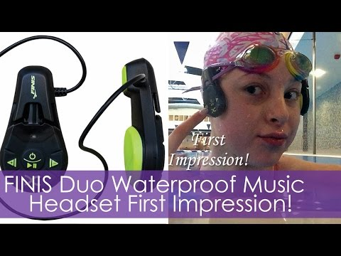 FINIS Duo Waterproof Music Headset | First Impression!