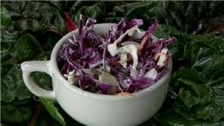 Cabbage Recipes : How To Make Red Cabbage Cole Slaw