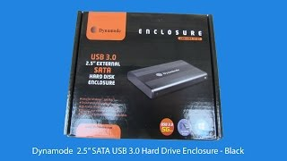 "Dynamode  2.5"" SATA USB 3.0 Hard Drive Enclosure - Black unboxing"
