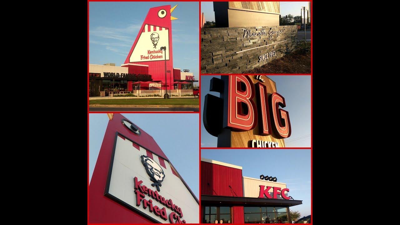 the new big chicken kfc in marietta ga youtube