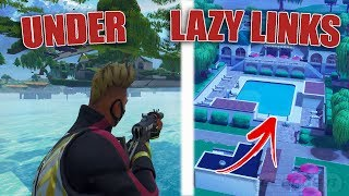*NEW* How To Get Under LAZY LINKS In Fortnite | Fully Under Map | God Mode | FORTNITE GLITCHES