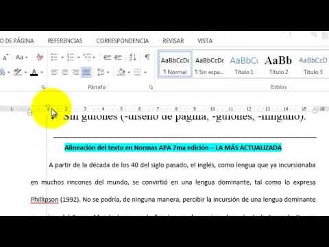 7ma Edición Normas Apa Alineación A La Izquierda Otra Vez Video 3 Nuevo