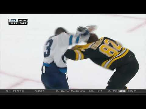 Trent Frederic fights Brandon Tanev 1/29/19