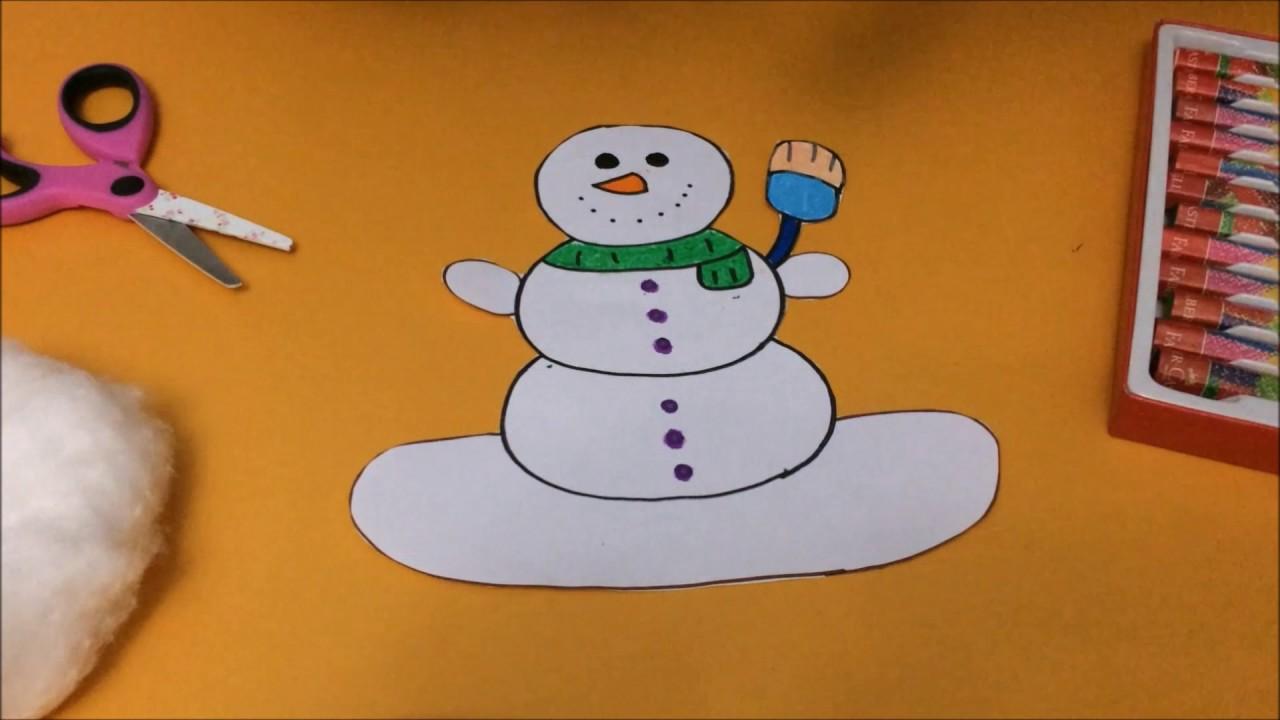 Kağıt Tabaktan Kardan Adam Nasıl Yapılır