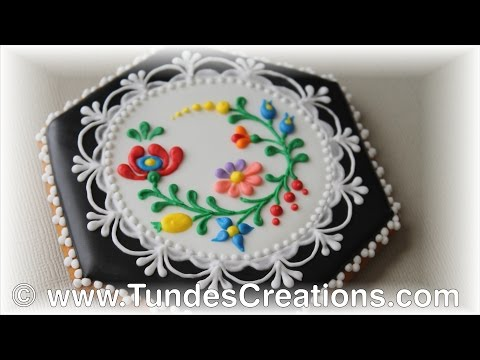 Hungarian folk art cookies, black 9.