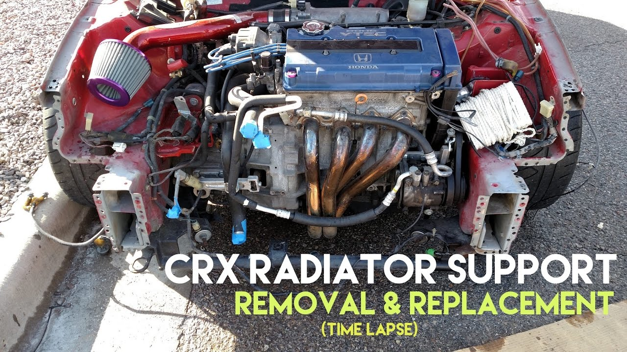 Honda Crx Radiator Support Removal Replacement Time Lapse