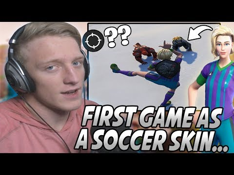 Tfue Used A SOCCER SKIN For The FIRST Time Against PROS & Had One Of His BEST Games Ever...