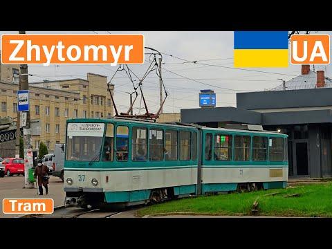 Ukraine , Zhytomyr tram 2020 [4K]