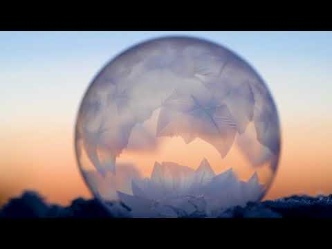 Ice Crystals forming inside of bubbles