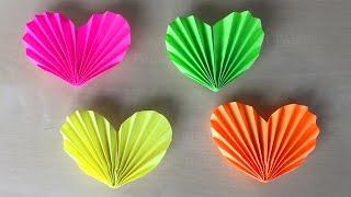 Herz basteln mit Papier ❤ DIY Geschenke selber machen. Ideen zum Basteln mit Kindern. Origami Herz