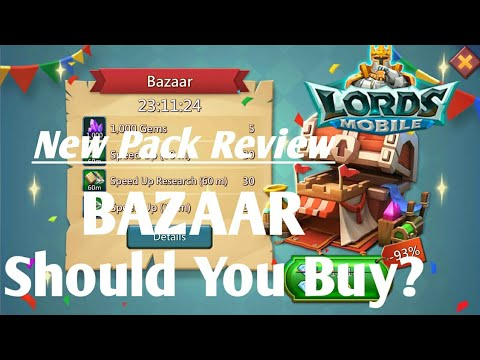 New BAZAAR Pack Review My Opinion  Lords Mobile