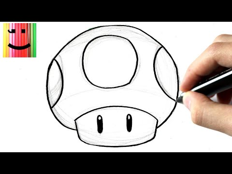 Comment Dessiner Champignon 1 Up De Mario Tutoriel Youtube