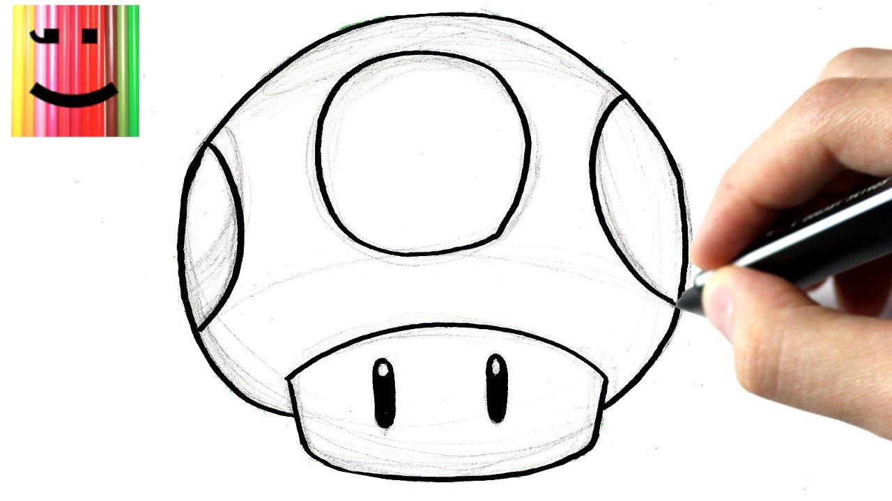 How To Draw Mario Mushroom Step By Step