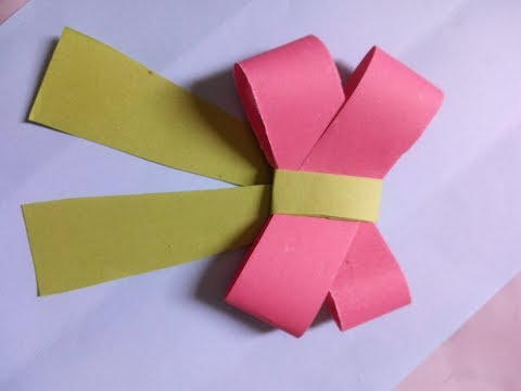 How to make a paper Bow/Ribbon | Easy origami Bow/Ribbons | DIY-Paper Crafts