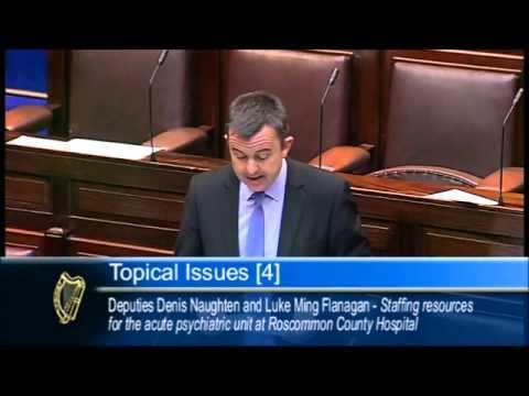 Denis naughton & Luke ming flanagan on Roscommon Staffing Shortages