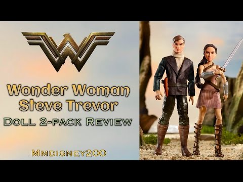 DC comics: Wonder Woman and Steve Trevor 2-Pack Doll Set by Mattel