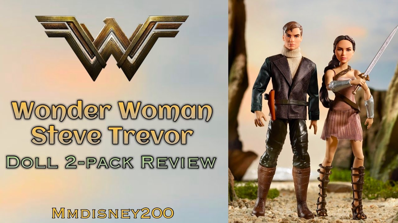 Doll review 2017 black label queen hippolyta doll face three - Dc Comics Wonder Woman And Steve Trevor 2 Pack Doll Set By Mattel