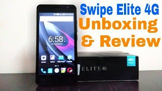 Swipe Elite 4G Unboxing amp Review Cheapest 4G VOLTE Smartphone