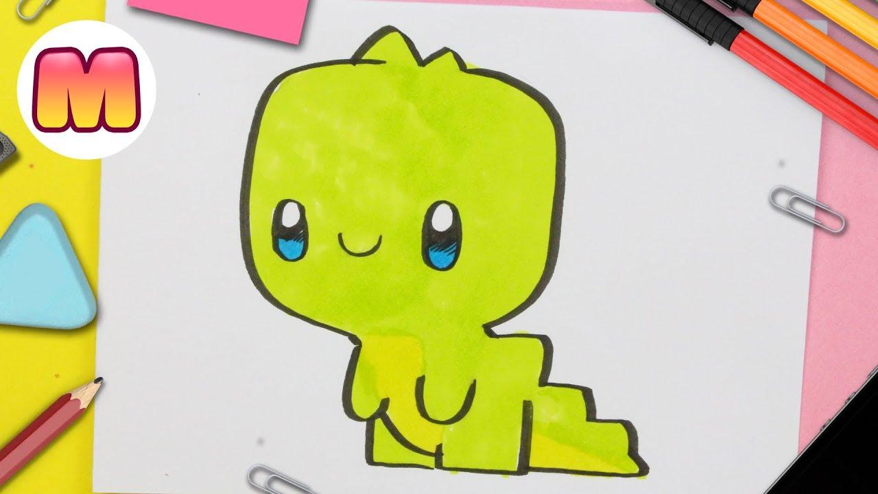 Como Dibujar Un Dinosaurio Kawaii Para Ninos Dibujo De Dinosaurio Paso A Paso Youtube Con estos dibujos de dinosaurios podrás imprimir y pintar grandes animales que ya se han extinguido como el branquiosaurio, el velociraptor, el tiranosaurio o el diplodocus. como dibujar un dinosaurio kawaii para ninos dibujo de dinosaurio paso a paso