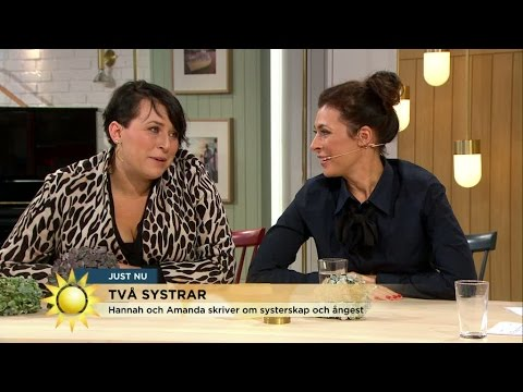 Systrarna Hannah och Amanda släpper nu sin första roman om - systerskap - Nyhetsmorgon (TV4)