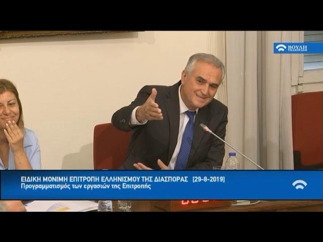 Συνεδρίαση της Επιτροπής  Ελληνισμού της Διασποράς.