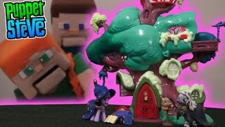 My Little Pony MLP Golden Oak Library Playset w/ Zecora, Twilight Sparkle Unboxing Puppet Steve