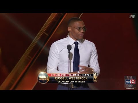 Russell Westbrook wins the 2017 Most Valuable Player Award | NBA on TNT