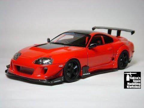 Building custom Tamiya SUPRA 1/24 scale model - RIDOX SUPRA - Completion date October 2016