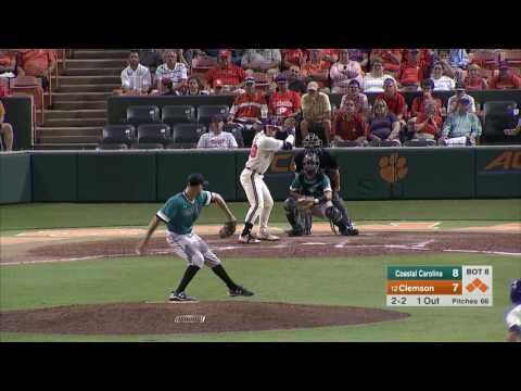 Clemson Baseball || Coastal Carolina Game Highlights - 5/16/17