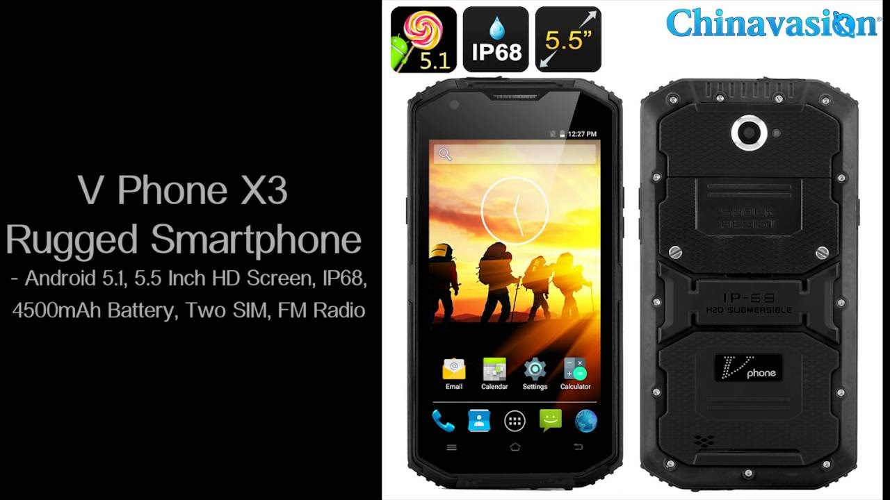 V Phone X3 Hd Rugged Android 5 1 Smartphone Ip68 Waterproof Review