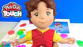 Heidi Play-Doh Touch tanıtıp Niloya oyun hamuru kalıbıyla Niloya ipad oyun yapıyor Pepee video oyunu