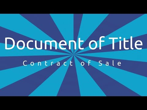 Document of Title of Goods | Formation of the Contract of Sale | CA CPT | CS & CMA Foundation