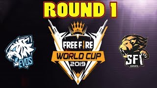 FREE FIRE WORLD CUP ROUND 1 (FFWC) || GARENA FREE FIRE INDONESIA