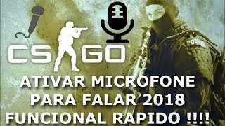 CS GO 1.6 COMO ATIVAR E FALAR NO MICROFONE PC 2018 TUTORIAL ATIVAR MICROFONE  COUNTER STRIKER 1.6