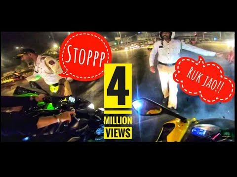 Night Ride | Mumbai Traffic Police Caught Us | Paid 1000 INR Fine |