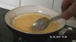 Faire une omelette au fromage en moins de 3 minutes