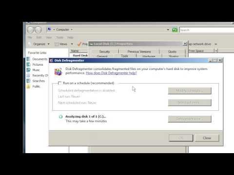 Server 2008, Windows 7: defragment a hard drive