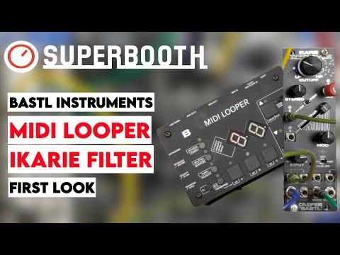 Superbooth 20HE: Bastl Instruments MIDI Looper & IKARIE Stereo Filter First Look