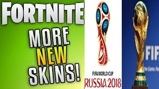 fortnite new leaked skins and pick axes for the worldcup!