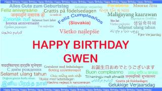Gwen   Languages Idiomas - Happy Birthday