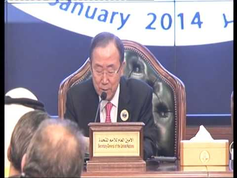 Press Conference with Ban Ki-moon after 2nd International Humanitarian Pledging Conference for Syria