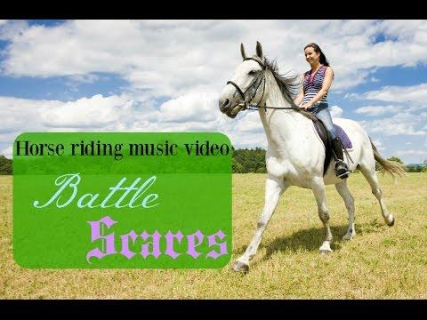 Horse riding music video ~ battle scars